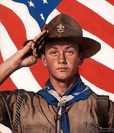 Boy Scout Salute by Norman Rockwell